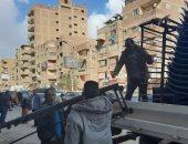 محافظ الجيزة يكشف رفع 1244 حالة إشغال للمقاهي والمطاعم والمحال.. صور