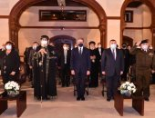 البابا تواضروس وعدد من الوزراء والسفراء يشهدون حفل فيلم المكتبة البابوية