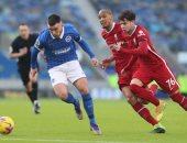 برايتون ضد ليفربول.. تعادل سلبى فى الشوط الأول بالدورى الإنجليزى