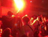 أعضاء الأهلى يشعلون الشماريخ احتفالا بلقب أفريقيا.. فيديو وصور
