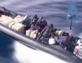 مطاردة مثيرة بين الشرطة الإسبانية ومهربى الحشيش فى البحر.. فيديو