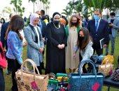 """نيفين جامع تؤكد ضرورة تطوير الصناعات اليدوية أثناء افتتاح معرض """"صنع في مصر"""""""