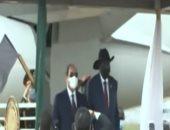 مباحثات ثنائية فى القصر الجمهورى بجنوب السودان بين الرئيس السيسى وسلفاكير