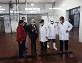 محافظ بورسعيد يتفقد مجزر منطقة القابوطى الجديد لمتابعة انتظام العمل