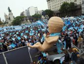 غضب نسائى.. إغلاق شوارع بمحيط الكونجرس فى الأرجنتين بسبب مظاهرات مناهضة الإجهاض.. ألبوم صور