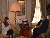 وزير الخارجية ومديرة البنك الأوروبى لإعادة الإعمار يبحثان المشروعات المشتركة