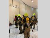 """الإمارات تسيطر على حريق بشجرة زينة خارج مطعم فى """"دبى مول"""""""