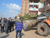 فيديو وصور.. محافظ القليوبية ومدير الأمن يقودان حملة مكبرة لإزالة الإشغالات بالطريق الزراعى