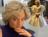 إيما كورين تكشف التشابه بين تسريحة الأميرة ديانا وجورج مايكل فى The Crown