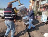 صور.. إزالة الإشغالات وتجميل شوارع مدينة كفر الشيخ والرصف بالإنترلوك