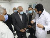 محافظ الجيزة يتفقد مستشفى أوسيم المركزى ورصف طريق ترعة الزمر