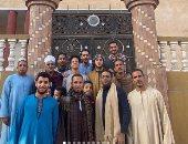 """أحمد مالك وداش فى 7 صور جديدة من كواليس استعدادهما لـ""""نسل الأغراب"""" فى سوهاج"""