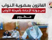 أسماء الفائزين بجولة الإعادة فى انتخابات النواب فى دائرتين بمطروح.. إنفوجراف