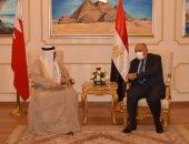 شكرى يؤكد لوزير خارجية البحرين دعم مصر لأمن واستقرار الخليج العربى