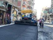 محافظ بورسعيد : بدء أعمال رصف شارع كسرى بحى العرب والمناخ