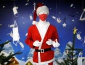 بابا نويل لبس الكمامة... معرض كمامات احتفالات عيد الميلاد