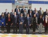الفريق أسامة ربيع يستقبل وفدا دبلوماسيا للإطلاع على المشروعات القومية بالقناة
