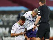 تريزيجيه يستعرض إصابته القوية ونزف الدماء من رأسه ومؤازرة من لاعبين وفنانين