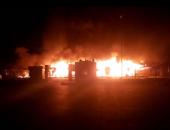 المعمل الجنائى يفحص الأدلة لكشف أسباب حريق بمبنى جهاز مدينة حدائق أكتوبر