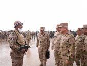 """رئيس الأركان يشهد إجراءات الاصطفاف والاستعداد القتالى """"بدر- 6"""" بالرماية بالذخيرة الحية"""