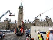 استمرار أعمال ترميم مبنى البرلمان الكندى.. صور