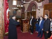 وفد من تنسيقية شباب الأحزاب يزور كنيسة الملاك ميخائيل بمنيا القمح