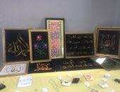 """لوحات """"خرز"""" أبدعتها فتاة من قرية الروضة تحقق 54 ألف جنيه مبيعات بالعريش.. صور"""