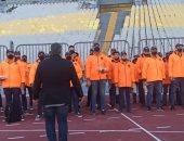 انتشار رجال الأمن باستاد برج العرب لتأمين نهائى كأس مصر.. صور