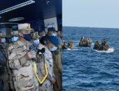 """وزير الدفاع يشهد تنفيذ المرحلة الرئيسية للتدريب المشترك """"ميدوزا -10"""""""