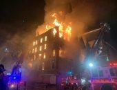 فيديوهات جديدة لحريق هائل بكنسية تاريخية فى نيويورك