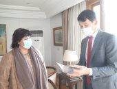 وزيرة الثقافة تلتقى سفير كوريا الجنوبية بالقاهرة لتعزبز التبادل الثقافى