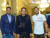 صورة تجمع محمد فضل مع إكرامى ورمضان صبحى فى مؤتمر بيراميدز