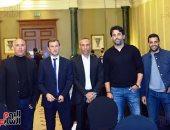 حضور محمد فضل ولاعبى بيراميدز مؤتمر الإعلان عن الشعار الجديد للنادى