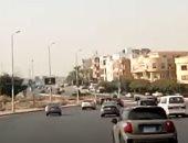 سيولة مرورية أمام السيارات بشارع التسعين فى التجمع الخامس.. فيديو