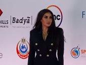 """شاهد إطلالات ياسمين صبري وهبة مجدي على السجادة الحمراء لفيلم """"أنيما"""" بمهرجان القاهرة"""