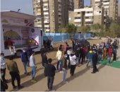 توافد الناخبين على لجنة رامى الجينجيهى فى مدينة نصر بإعادة النواب.. فيديو