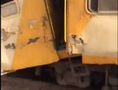 السكة الحديد: 5 إصابات بسبب تصادم قطار المنصورة ولجنة فنية للتحقيق بالحادث