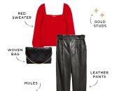 اعرفى إزاى تلبسى البلوفر الأحمر بـ 5 طرق مختلفة فى موسم الكريسماس