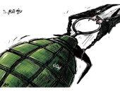 رفع الدعم فى لبنان بمثابة قنبلة موقوته على وشك الانفجار فى كاريكاتير اليوم
