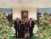 تيفانى ترامب تحتفل بالكريسماس مع خطيبها اللبنانى وعائلته بالبيت الأبيض.. صور