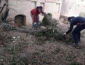 إيدك مع إيدى.. مبادرة شبابية لنظافة وتجميل مركز ديرمواس بالمنيا.. صور
