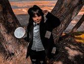 قارئة من نيوزيلاندا تشارك بفوتوسيشن لابنتها على طريقة الطفلة فيروز فى فليم دهب