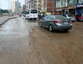 هطول أمطار متوسطة وخفيفة على محافظة الدقهلية.. صور