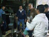 حى البساتين يضبط مقاهى تقدم الشيشة ويرفع إشغالات من الشوارع.. صور