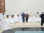 محافظ مطروح يشهد حفل زفاف جماعى لعدد من أبناء المحافظة.. فيديو وصور