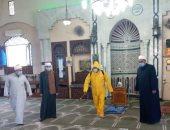 """""""أوقاف الجيزة"""" تواصل حملة نظافة وتعقيم المساجد استعدادًا لصلاة الجمعة.. صور"""