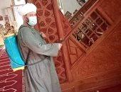 استمرار أعمال التطهير والتعقيم بمساجد الإسكندرية بعد انتهاء صلاة الجمعة