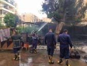 النيابة تنتدب المعمل الجنائى لمعاينة حريق شقة سكنية فى المطرية