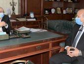 محافظ بنى سويف يستقبل السكرتير العام الجديد لمباشرة عمله ومهامه