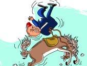 """أردوغان يسقط من حصان """"أحلام السلطان"""" فى كاريكاتير سعودى"""